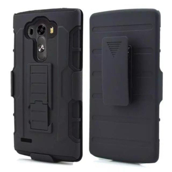 Foreign trade explosion models LG G4 back clip mobile phone case C40 mobile phone sets G5 armor bracket anti-fall 3 in1 protective case