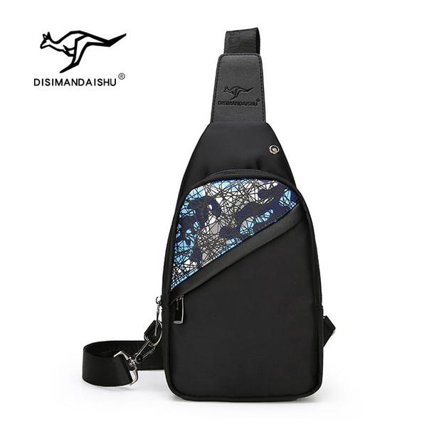 Designer Messenger Bag Men's Multi-function Chest Bag PU Oxford Cloth Shoulder Outdoor Sports Bag Free Shipping