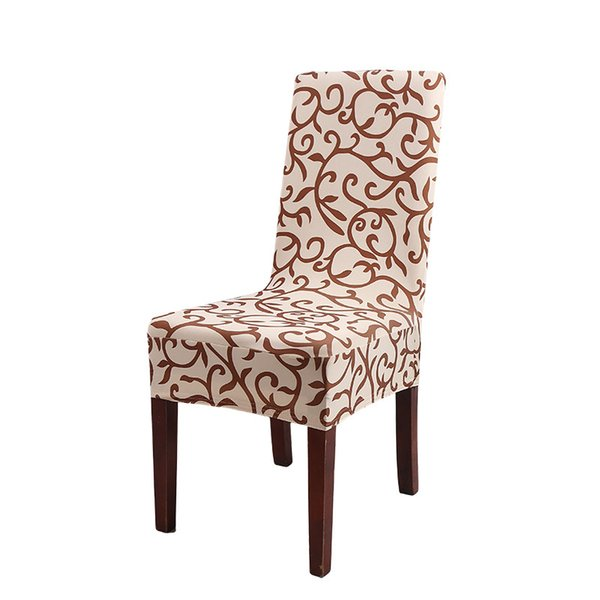 Stretch Chair Cover Dining Chair Set Simple Printed One-piece Short Home Hotel Computer Dining Table Cover50