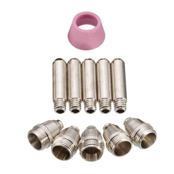best selling 11x Plasma Cutting Torch Nozzles SG-55 AG-60 WSD-60 Consumable Accessories Kit Cups