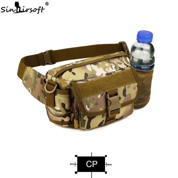 Hombres Nylon Hombro Mensajero Bolso de la botella de agua al aire libre Molle Hervidor de agua paquete de la cintura
