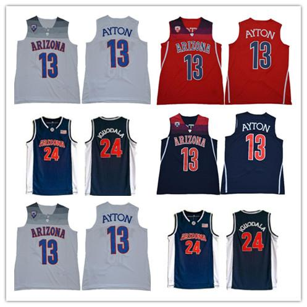 NCAA Arizona Wildcats 13 Deandre Ayton Jersey Navy Blue Red White College 24 Andre Iguodala Basketball Jersey University Stitched