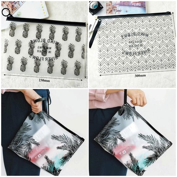 Hot Clear Makeup Bags PVC Waterproof Toiletry Cases Travel Organizer Bath Wash Bag Pouch Pencil case