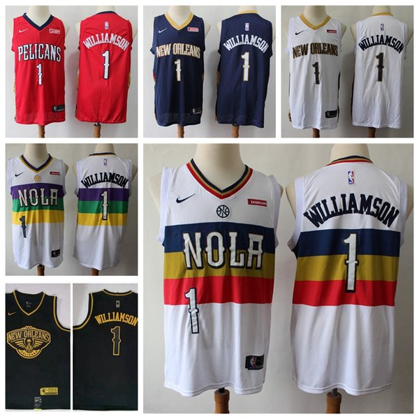 2019 2020 Basketball Jerseys Cheap Mens Neworleanspelicans Home Zion Williamson 1 City Zion 1 Williamson Edition Stitchednba Embroidery Shirts From