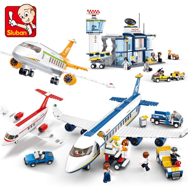 best selling City Plane Series International Airport Airbus Aircraft Airplane INGs Building Blocks Sets Figures Bricks Toys for Children