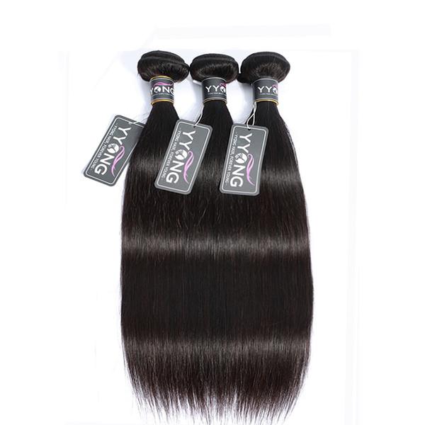 Grado 7A brasileña virginal recta del pelo humano teje Bundles doble del color tramas no procesados extensiones de cabello natural 1pc / lot 100g