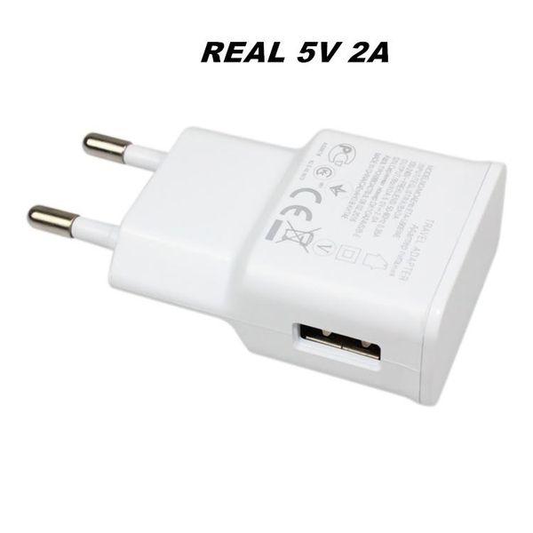 Adaptador de viaje cargador de pared real completa 5V 2A alta calidad USB para el ENVÍO LIBRE del enchufe de EE.UU. Samsung UE