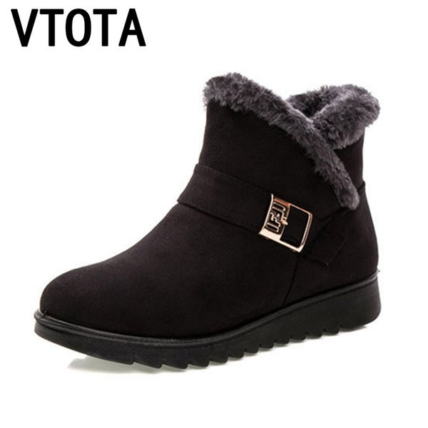 Winter Snow Warm Winter Boots Botas Mujer Ankle Boots For Women Fur Platform Wedges Boots Mother Shoes H154
