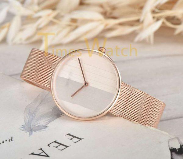 High Quality Fashion Women Quartz Watches Rose Steel Mesh Strap Bracelet Watch Luxury Ultra Thin Stainless Steel WristWatches Wholesale