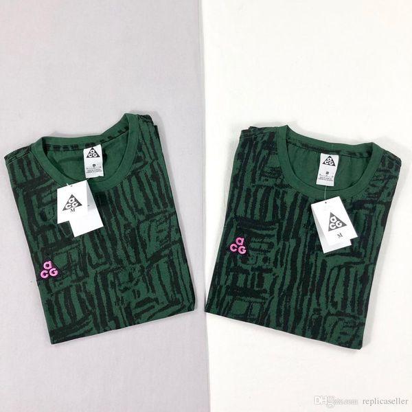 19ss Spring New ACG NRG AOP green Tee Shirt Men Women Breatheable Fashion Streetwear Sweatshirts Outdoor T-shirts
