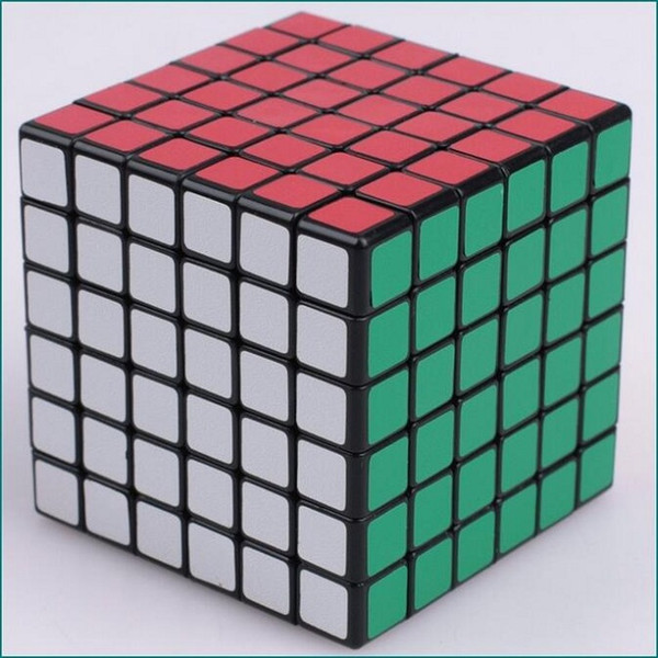 Shengshou Puzzle Magic Cube 6.7cm 6x6x6 (adesivo opaco, bianco nero) Speed Professional Competition Cubo Magico Kids Toy Gift
