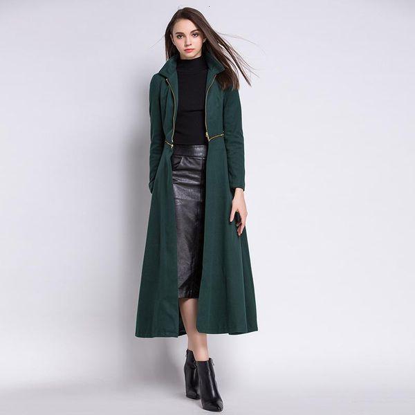 Banulin Cappotto in lana da donna Cardigan da donna solido Cappotto lungo in lana Cappotto in lana Cappotto invernale Cappotto in lana 2019 Giacche in lana Trench