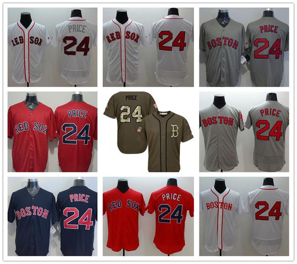 7d7b51dc841be 9 Styles Mens Boston Red Sox Majestic Cool Base #24 David Price Jerseys  Custom Baseball