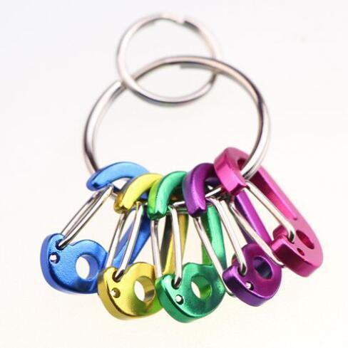 5PCS/LOT Mini Carabiners Climbing Backpack Spring Clasps Keychain Camping Bottle Hooks Gear Mixed color