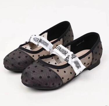 Kid white shoe for girl fashion spring summer shoes soft rubber sole baby girl dance shoe Eu 26-35 high quality 1111