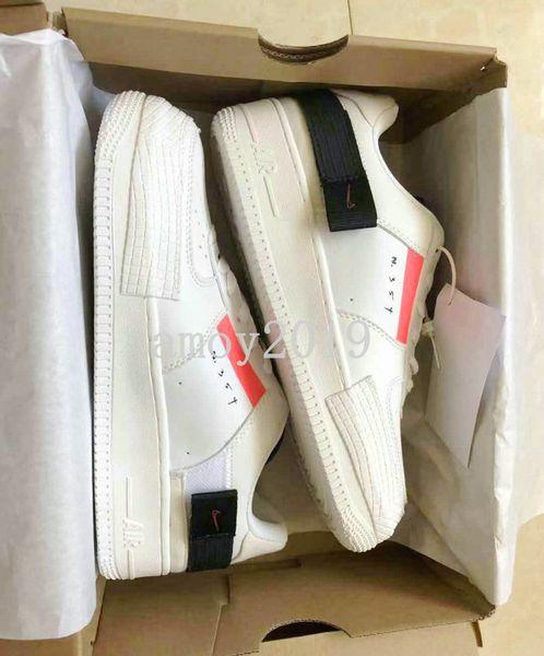 2020 Tip N.354 Utility 1 Klasik Beyaz kuvvetler Erkekler Kadınlar Ayakkabı Koşu Kaykay Bir Portakal Paten Düşük Eğitmenler Tasarımcı Sneakers 36-45