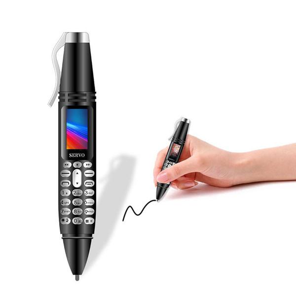 Mini Cellphone Pen Tiny Screen GSM Dual SIM Camera Bluetooth Dialer Mobile Phones with Recording pen K07 0.96INCH