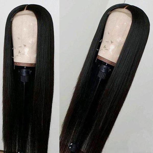 Vendita di liquidazione Parrucca per capelli umani frontale in pizzo dritto da 22 pollici Parrucca frontale in pizzo vergine peruviana 100% capelli umani Parrucca frontale in pizzo 13x4