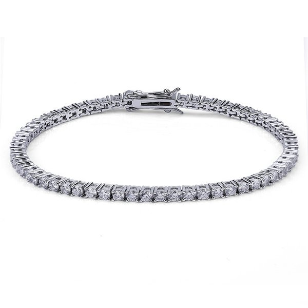 3mm 7inch White Gold
