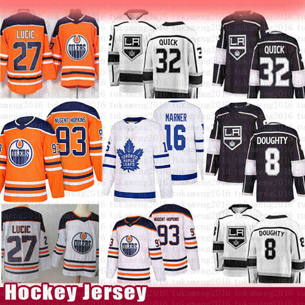 Lo angele king drew doughty jonathan quick hockey jer ey edmonton oiler ryan nugent hopkin milan lucic toronto maple leaf mitch marner