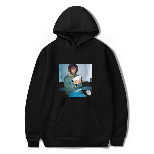 19ss Erkek Yüksek Sokak Kapşonlu Hoodies Rapçi Lil Uzi Vert Baskı V Boyun Tişörtü Erkek Kadın Hip Hop Gevşek Kış Hoodies Artı Boyutu 2XS-4XL