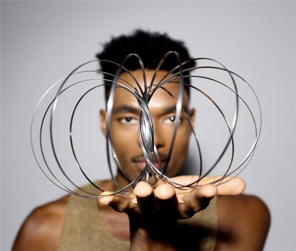 Нержавеющая сталь дизайнера кольцо Arm Slinky Toroflux Удивительный поток Браслет Магия Непоседа Dynamic Flow Радуга кольцо Декомпрессия Игрушки Подарки