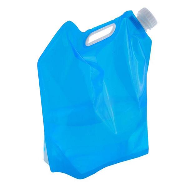 5L Dobrável Dobrável Saco de Água Saco De Acampamento de Armazenamento de Mão Levantamento Caminhadas Garrafa de Sobrevivência Ao Ar Livre viagens Essentials
