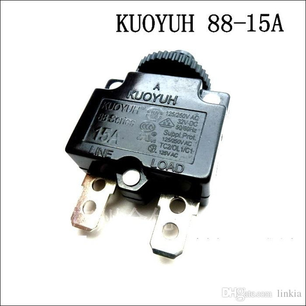 top popular Taiwan KUOYUH Overcurrent Protector Overload Switch 88 Series 15A 2021