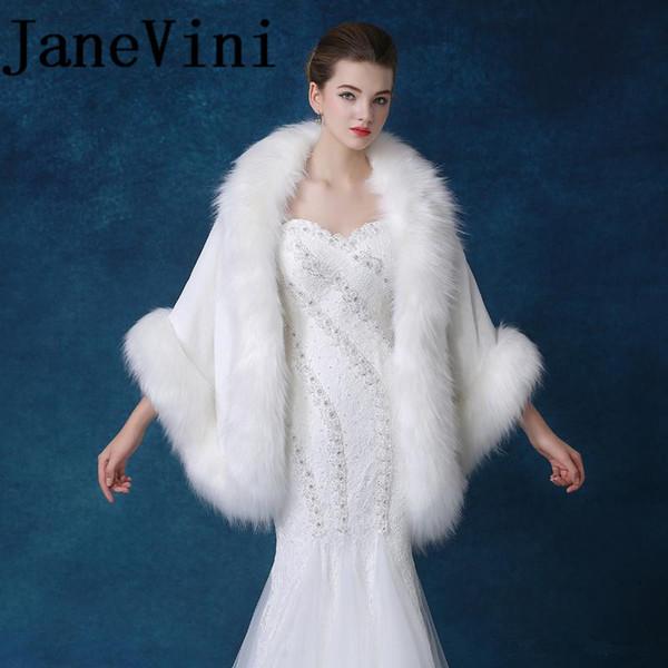 Atacado Elegante Faux Fur Wraps Para Casamento Da Noiva Evening Estolas De Bolero Bolero Princesa Jacket Bolero Nupcial Casaco de Inverno Xale