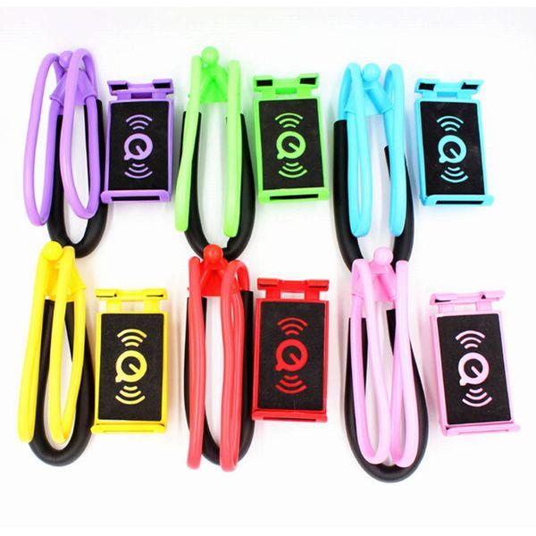 HOTEST Tembel Asılı Boyun Telefon Kolye Cep Telefonu Destek Braketi Standları Samsung için Evrensel Tutucu iphone için ÜCRETSIZ DHL