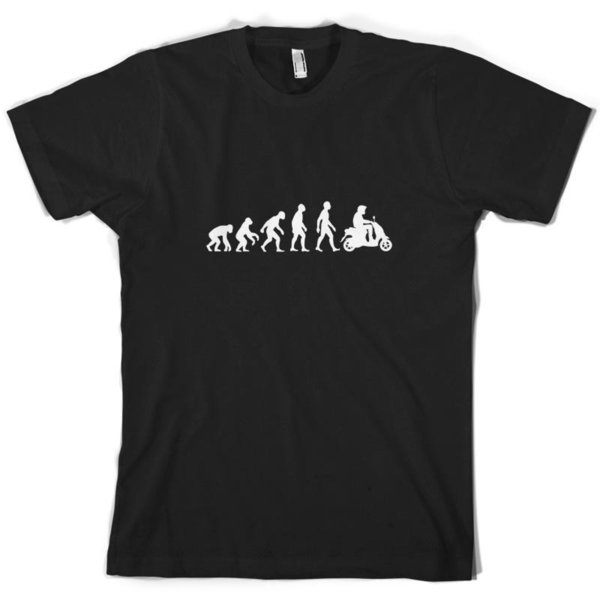Evolution of Man Moped / Scooter Mens T-Shirt 10 Colours Cool Motorbike