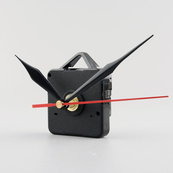 Uhr Quarz-Uhrwerk-Mechanismus schwarze und rote Hände DIY Ersatz Reparatursatz Wanduhr Teile Zubehör für Deco