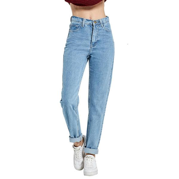 Женские дизайнерские брюки джинсы Femme Бесплатная доставка 2019 Новый карандаш брюки Vintage высокой талией Новые женские брюки Полная длина Сыпучие Cowboy C1332