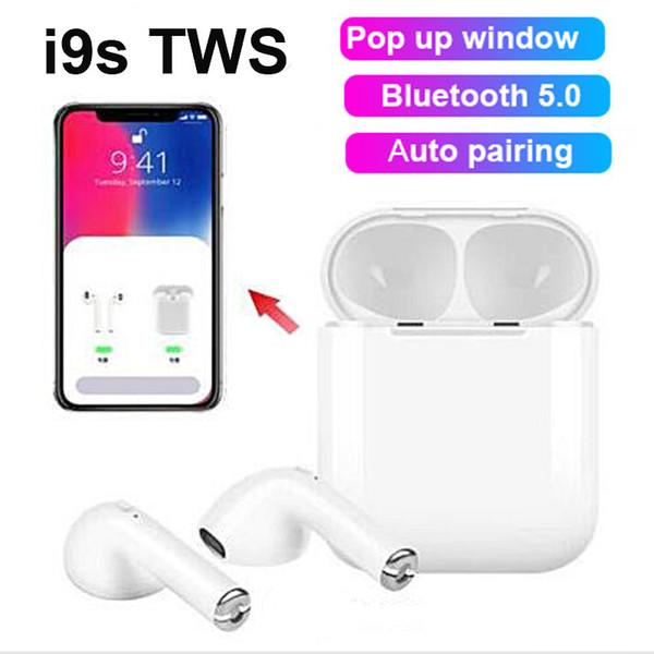 i9S TWS 5.0 всплывающее окно беспроводные наушники Bluetooth наушники наушники-близнецы белого цвета