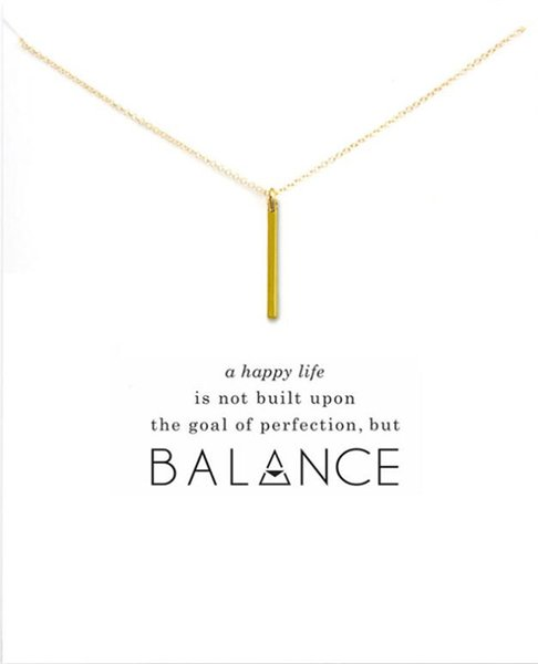 One Word Metal Bar Pendant Women \'S Fashion Choker Gold Silver Chain Necklace Jewelry Gift For Girls Party