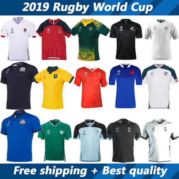 top popular Australia England Fiji France Ireland Italy Japan New Zealand Scotland United States Wales rugby jersey 2019 Rugby World jersey short sleeve 2019
