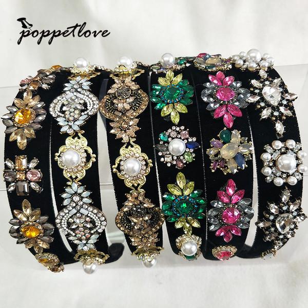 Fashion Cute Women Girls Crystal Tiara Hairbands For Party Headdress Beautiful Hair Tiara Crowns Decorations Y19051302