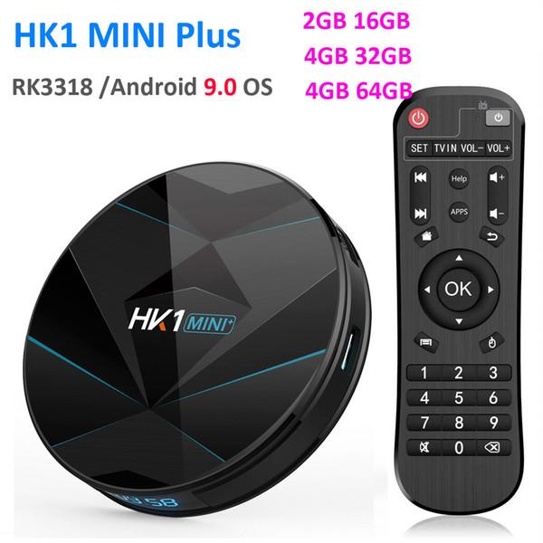 HK1 Rockchip RK3318 MINI Smart Box TV Android 9.0 4 GB 64 GB 1080 p 4 K 60fps USB3.0 Google Play set caixa de topo