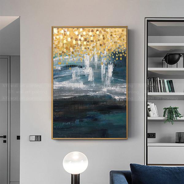 Acheter Or Art Peintures Sur Toile Résumé Décoration Peinture Wall Art  Image Pour Salon Maison Couloir Mur Décor Acrylique Quadros De $86.54 Du  Copy02 ...