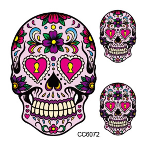 Mini Body Art waterproof temporary tattoos for men women Skeleton design flash tattoo sticker CC6072