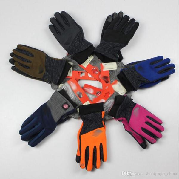 Full Finger Сенсорные Перчатки Велосипед Велоспорт Пешие Прогулки Спортивные Сенсорный Экран Перчатки Флис Ветрозащитный Открытый Перчатки 7 Цветов 50 Пар LJO3418
