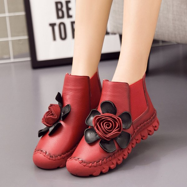 winter 2020 new ladies leather casual tassel shoes plus velvet warm low barrel round head women's boots