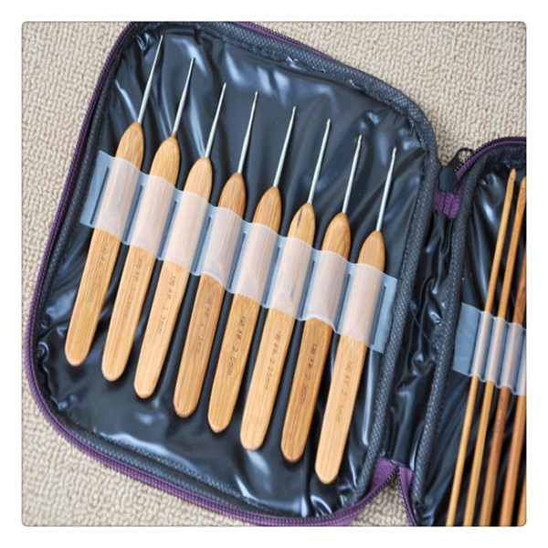 Bamboo Crochet Hooks Home Supplies fulfill different needs Knitting Needles with Case Convenient Needles Hand Tools Practical