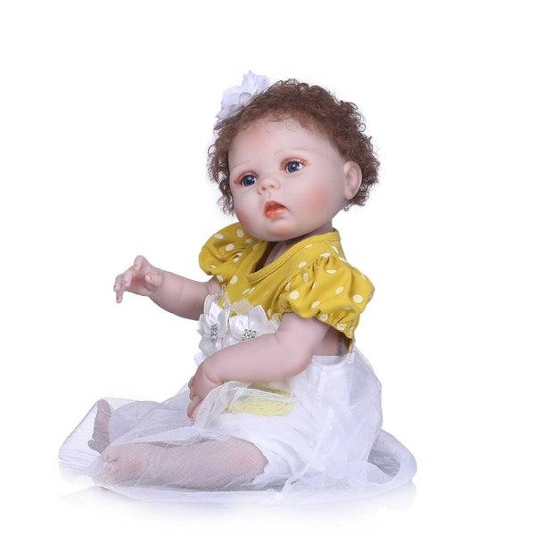 Bebe Reborn Lovely NewBorn Baby Girl Doll Toy 23'' Realistic Reborn Dolls Silicone Vinyl Full Body Alive bebe Boneca Reborns