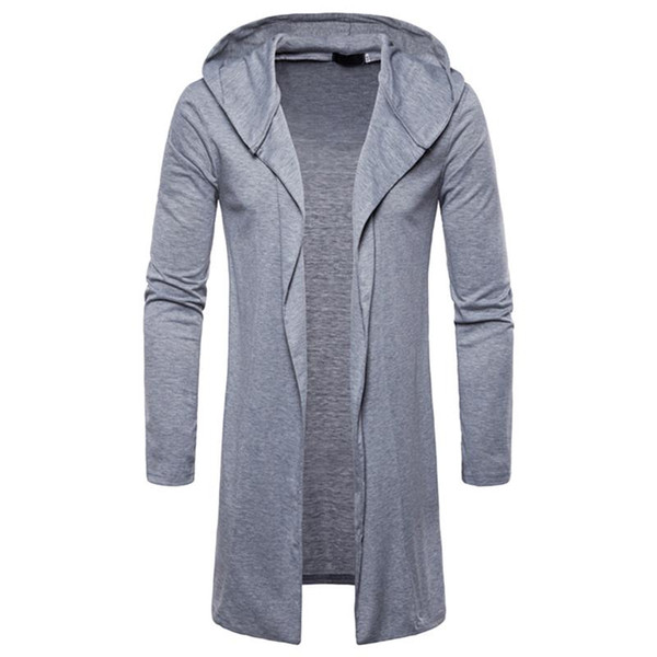 2019 Sweater Men Cardigan Long Camisa Masculina Mens Slim Fit Hooded Knit Sweater Fashion Cardigan Long Trench Coat Knitted Jacket From Raoken, $24.84