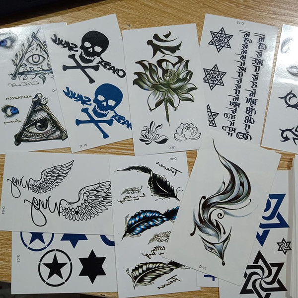 30 pcs Tatuagem Temporária Adesivos Flores Braços Pés Tatuagem Colorido Body Art À Prova D 'Água Rosa Falso para Crianças e Mulheres