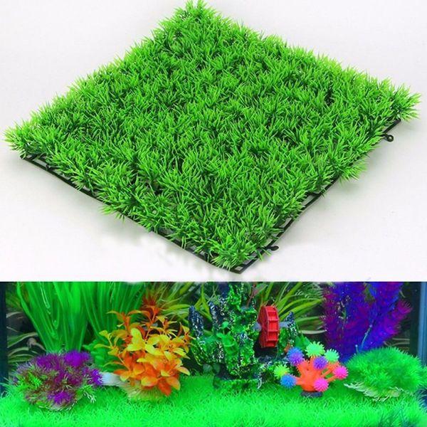 Eco-Friendly Aquarium Ornaments Artificial Water Plastic Green Grass Plant Lawn Aquatic Fish Tank Decor