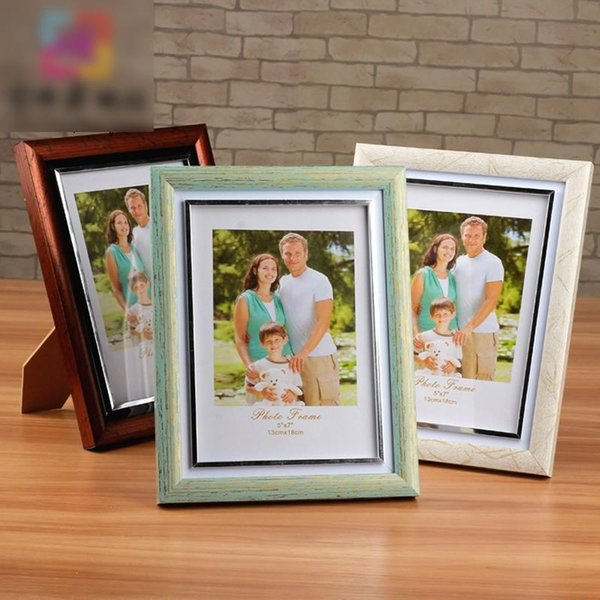 1PC Wood Photos Frame Modern Painting Picture Photo Frame Home Decor Family Frames Art Home Ornament Picture Album Soporte Fotos