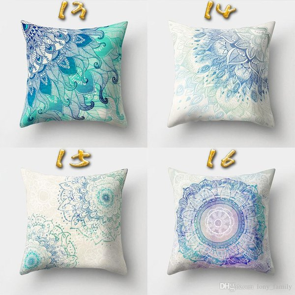 New 16 Styles 45*45cm Bohemian Relief Cushion Covers Linen Bedroom Seat Decorative Pillow Home Decor Kitchen Accessories Party Decoration