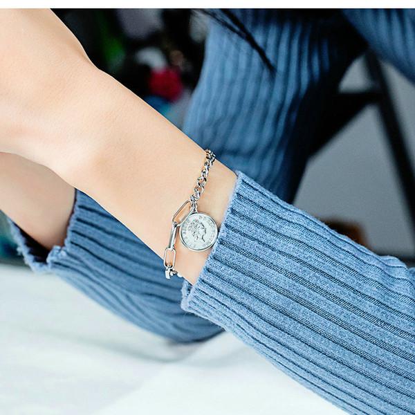 Mode féminine Rose Bijoux Laramoi Elizabeth Coin Bracelet Christian Croix Bracelet Ailes d'ange Pendentif chaîne Mme religieuse Dangle